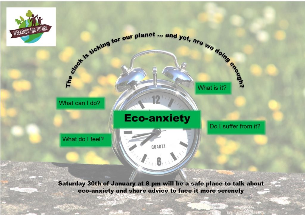 An evening to talk freely about eco-anxiety